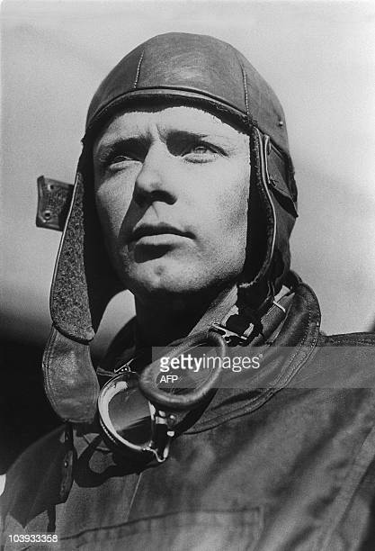 Undated portrait of American aviator Charles Lindbergh Born in 1902 Lindbergh made the first solo nonstop transatlantic flight from New York to Paris...