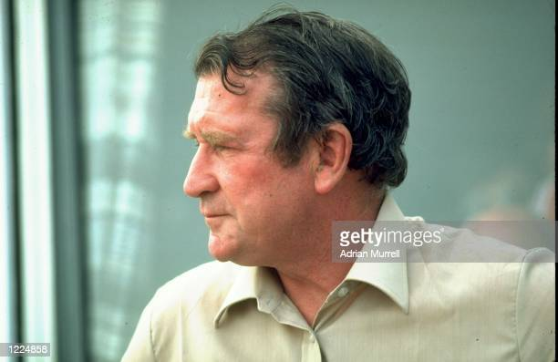 Portrait of Jim Laker of England Mandatory Credit Adrian Murrell/Allsport
