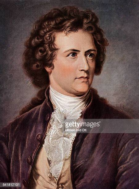Undated portrait of the German writer and poet Johann Wolfgang von Goethe