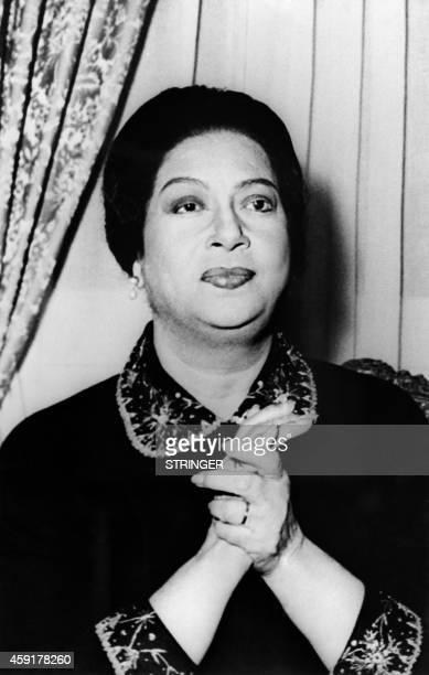 Undated portrait shows Egyptian singer Umm Kulthum AFP PHOTO