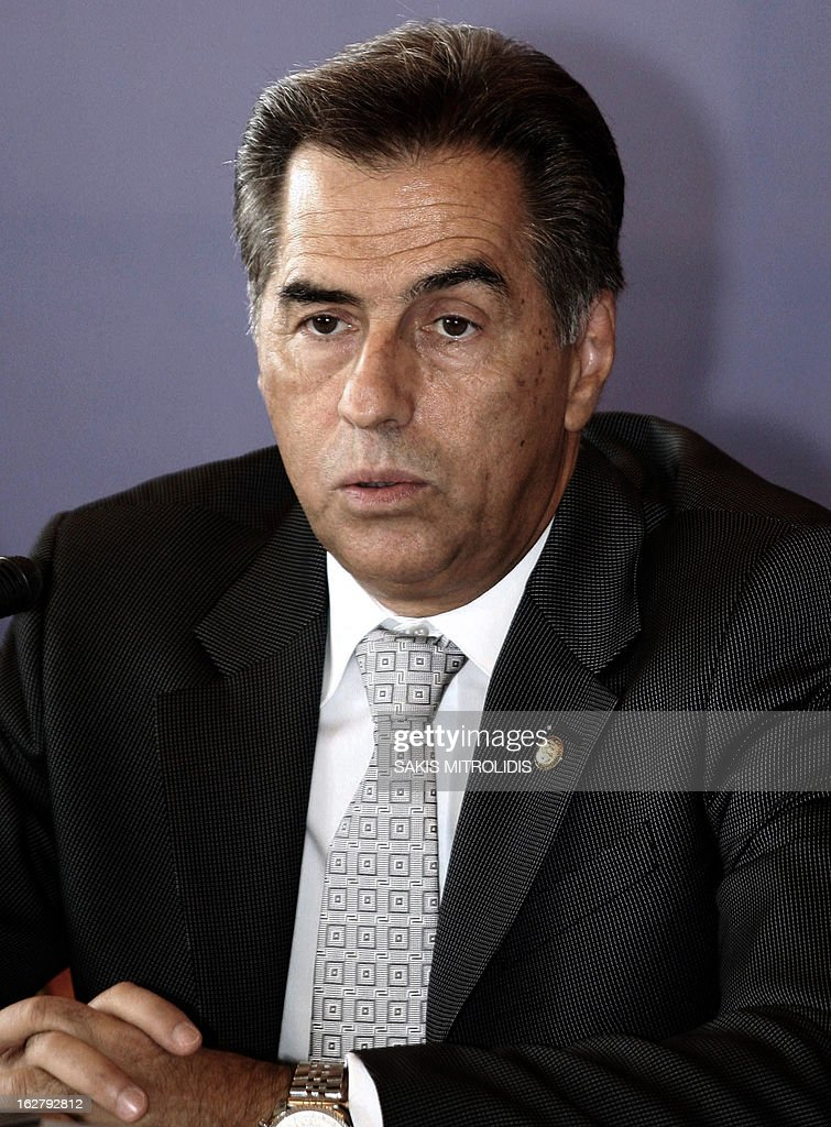 Undated portrait shows the former Mayor of the Greek northern port city of Thessaloniki Vassilis Papageorgopoulos. A court in Thessaloniki, northern Greece, on February 27, 2013 handed life sentences to the city's ex-mayor and two other municipal officials in a decade-long embezzlement case, local officials said. Vassilis Papageorgopoulos, 65, was convicted of turning a blind eye to the embezzlement of nearly 18 million euros ($23.5 million) from municipal coffers between 1999 and 2008. AFP PHOTO / Sakis Mitrolidis