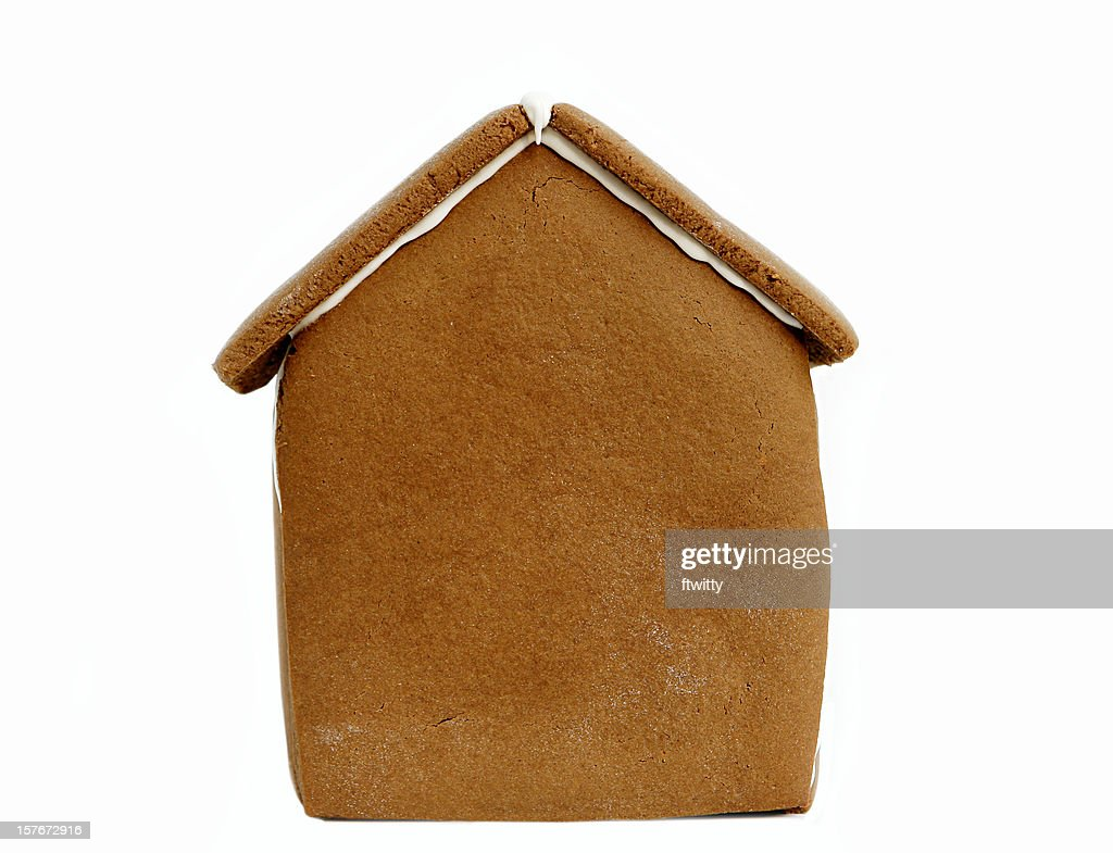 Undecorated Gingerbread House Isolated on White