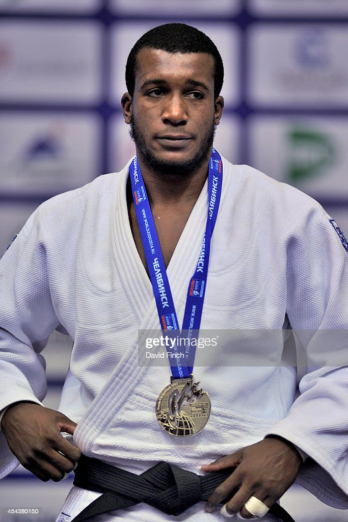 Under 100kg silver medallist, Jose Armenteros of Cuba during the Chelyabinsk Judo World Championships at the Sport Arena 'Traktor' on August 30, 2014 in Chelyabinsk, Russia.