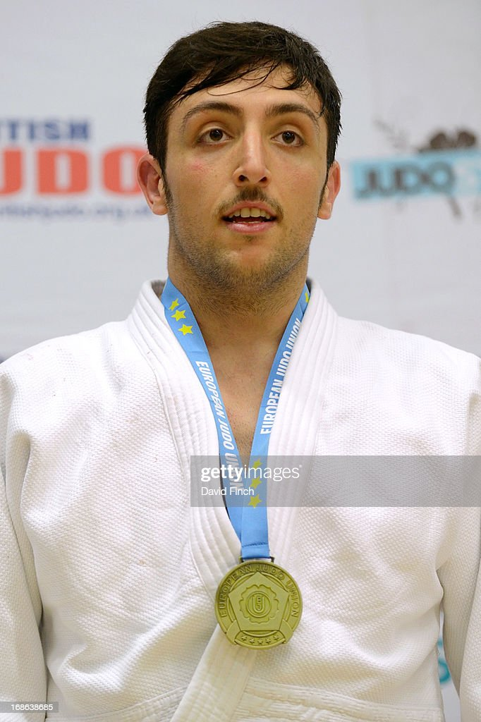 Under 100kgs gold medallist, Vincenzo D Arco of Italy, during day 2 of the London British Open Judo Championships at the K2 on May 12, 2013 in Crawley, United Kingdom.