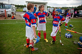 Under 12 school teams boys and girls play the traditional game of Shinty Kingussie versus Banavie school from Fort William Many of the players are...