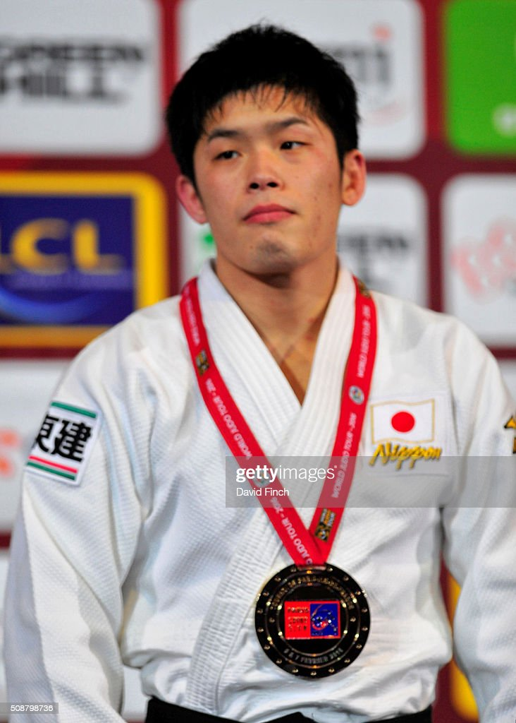 Under 60kg gold medallist Toru Shishime of Japan during the 2016 Paris Judo Grand Slam on February 6 2016 at the AccorHotels Arena Bercy Paris France