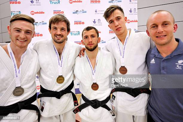 Under 66kg medallists LR Silver Gregg Varey Gold Colin Oates Bronzes Nathon Burns and Aaron Turner along with World VI champion and Paralympic bronze...