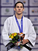 Under 78kg bronze medallist Anamari Velensek of Slovenia during the Chelyabinsk Judo World Championships at the Sport Arena 'Traktor' on August 29...