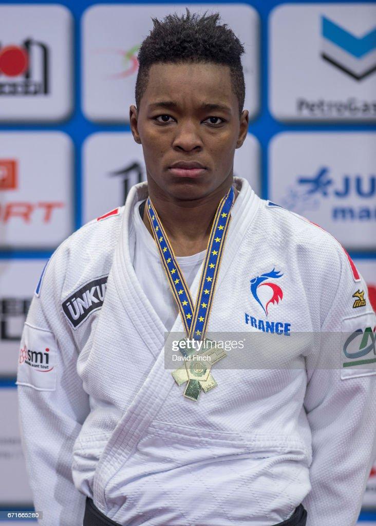 Under 78kg gold medallist, Audrey Tcheumeo of France during the 2017 Warsaw European Judo Championships (20-23 April) at the Torwar Arena, Warsaw, Poland.