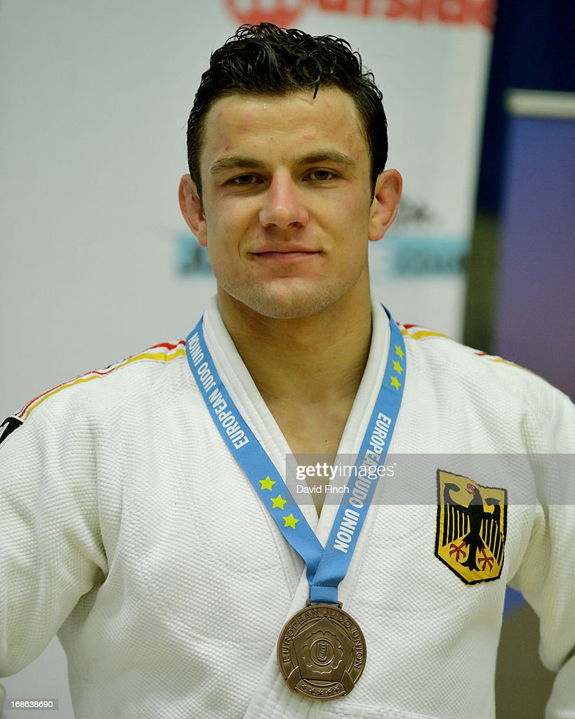 Under 81kgs bronze medallist, Sven Maresch of Germany, during day 2 of the London British Open Judo Championships at the K2 on May 12, 2013 in Crawley, United Kingdom.