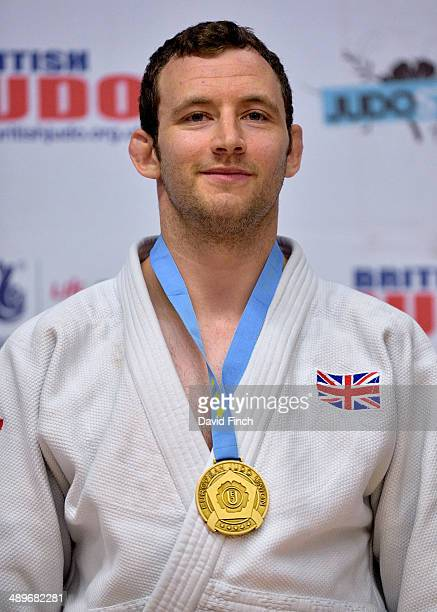 Under 90kg gold medallist Andrew Burns GBR during the London British Open Senior European Judo Cup at the K2 Arena on May 11 2014 in Crawley West...