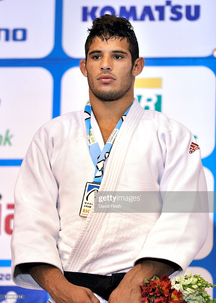Under 90kgs gold medallist, Asley Gonzalez of Cuba at the Rio World Judo Championships on Day 5 at the Gympasium Maracanazinho August 30, 2013 in Rio de Janeiro, Brazil.