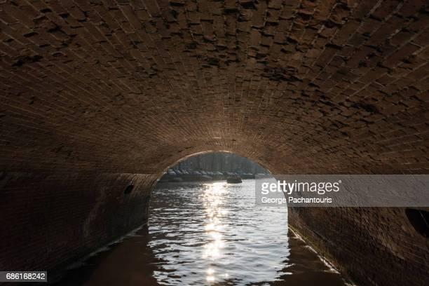 Under a bridge in Amsterdam, Netherlands