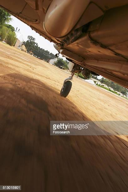 Under a plane