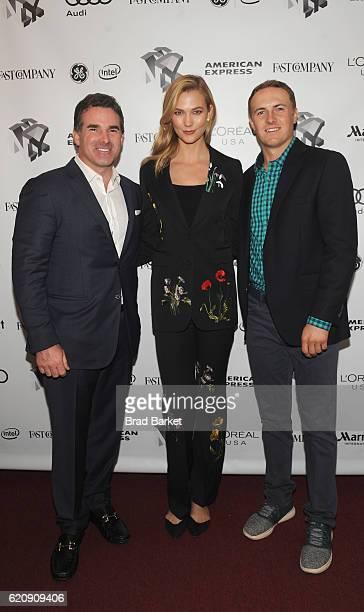 Under Armour CEO Kevin Plank Model Karlie Kloss and Golfer Jordan Spieth attend the Fast Company Innovation Festival 2016 Under Armour CEO Jordan...