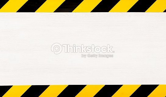 Under construction concept background. Warning tape. : Stock Photo