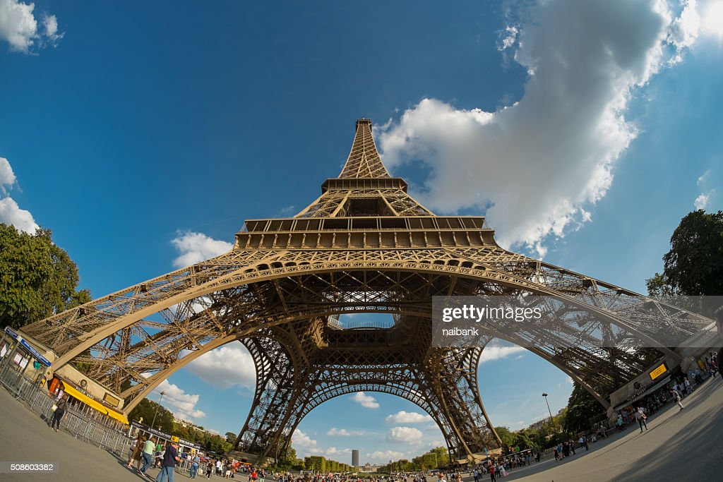 Under Eiffel tower : Stock Photo