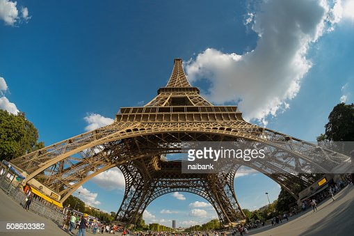 Under Eiffel tower : Stock Photo