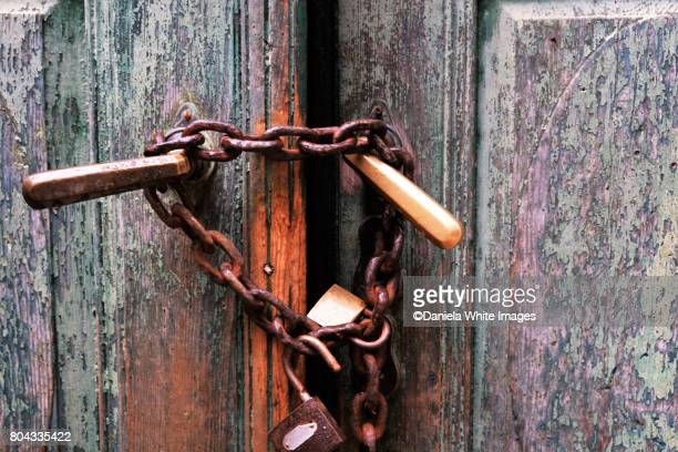 Under lock and chain