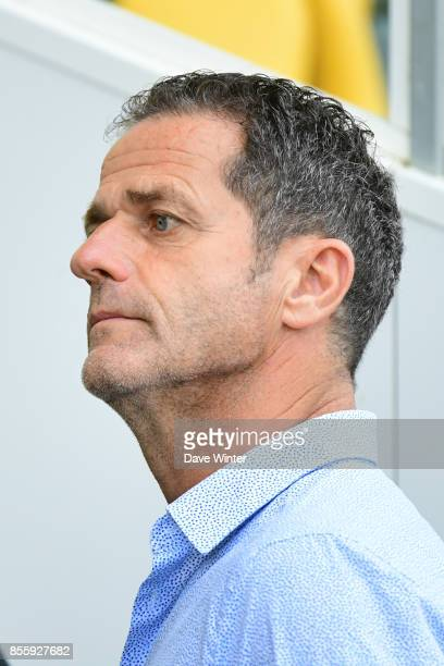 Under pressure Metz coach Philippe Hinschberger before the Ligue 2 match between Paris FC and Nimes on September 29 2017 in Paris France