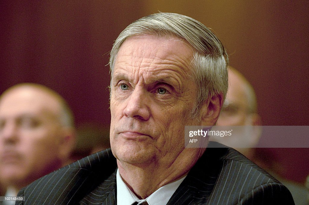 US Under Secretary of Defense Robert Hale appears before a Senate Appropriations Committee hearing on the proposed budget estimates for FY2011 for the Defense Department, in the Dirksen Senate Office Building on Capitol Hill in Washington, DC, June 16, 2010.