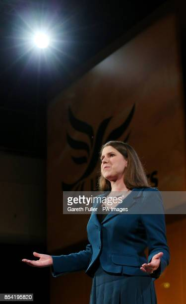 Under Secretary of State for Emploment Relations Jo Swinson delivers her speech at the opening rally of the Liberal Democrat's Spring Conference at...
