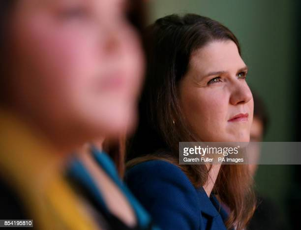 Under Secretary of State for Emploment Relations Jo Swinson listens to speeches at the opening rally of the Liberal Democrat's Spring Conference at...