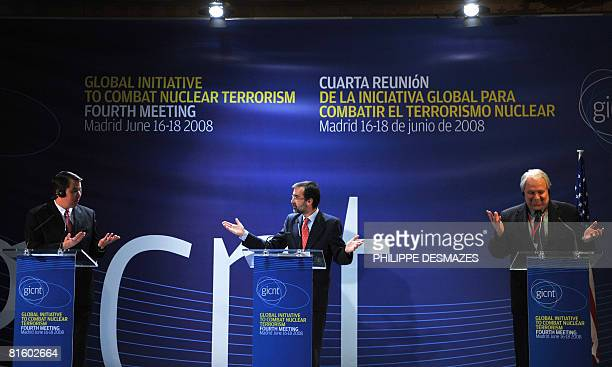 US Under Secretary of state John Rood Spanish Secretary of State for Foreign Affairs Angel Lossada Torres Quevedo and Russian Deputy Foreign Minister...