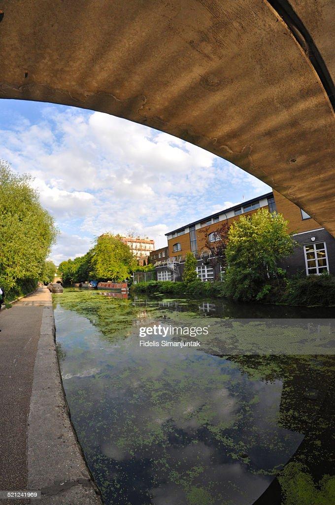 Under the bridge at Regent's canal, London