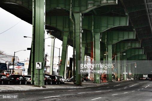 Under the Green Bridge : Stock Photo