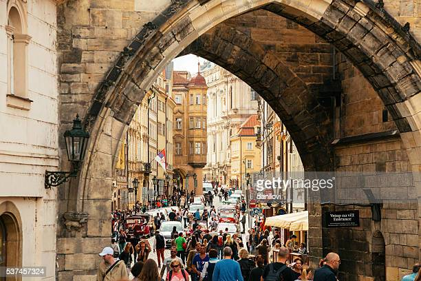 Under the Little Quarter Bridge Tower, Prague