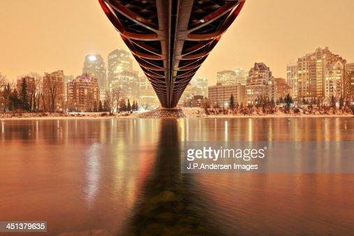 Under the peace bridge, Calgary