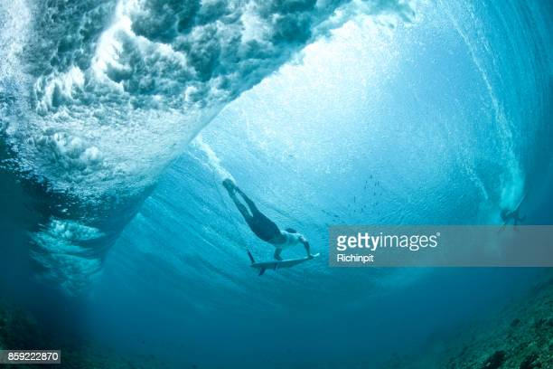 Under the surfer