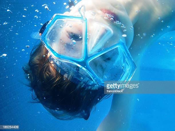 Under water boy