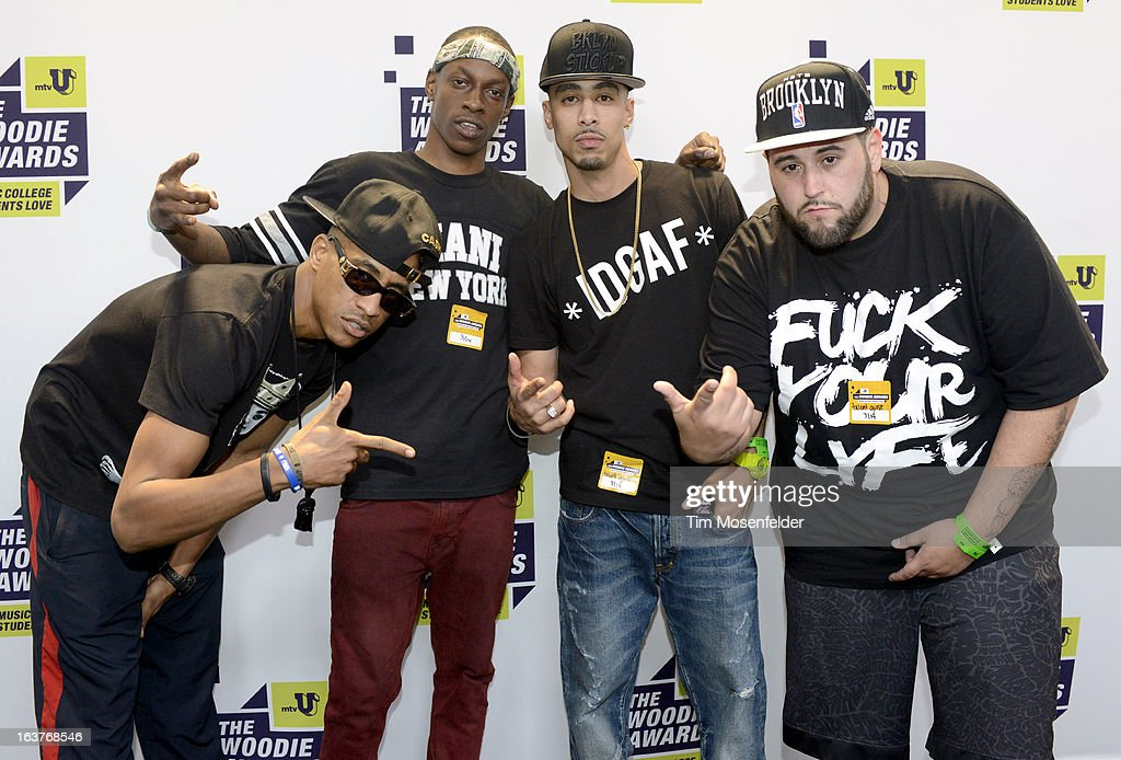 Underachievers pose at the mtvU Woodie Awards on March 14, 2013 in Austin, Texas.