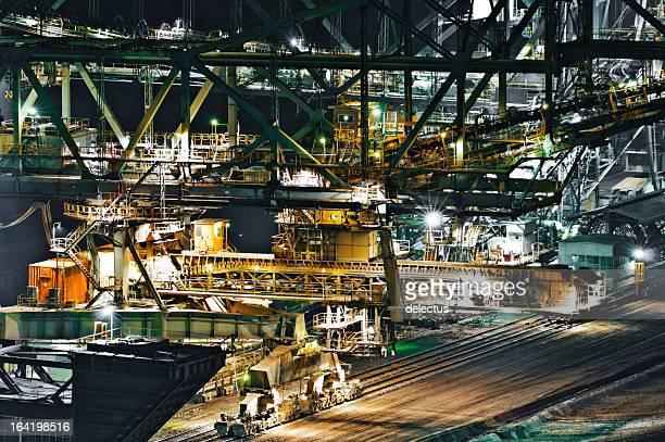 Undercarriage of the world's largest conveyor bridge