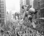 Underdog leads Kermit the Frog and Smokey the Bear down the Great White Way to the delight of millions who turned out for Macy's 53d annual...