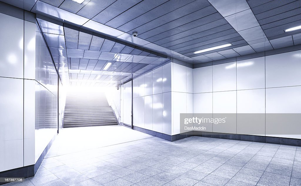 Underground entrance with sunlight : Stock Photo