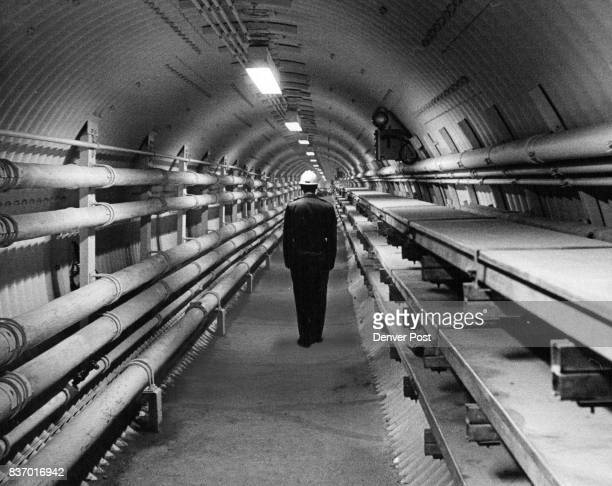 Underground Link This is part of the more than 2000 feet of tunneling in one of the threemissile complexes Tunnels are 91/2 feet in diameter The...