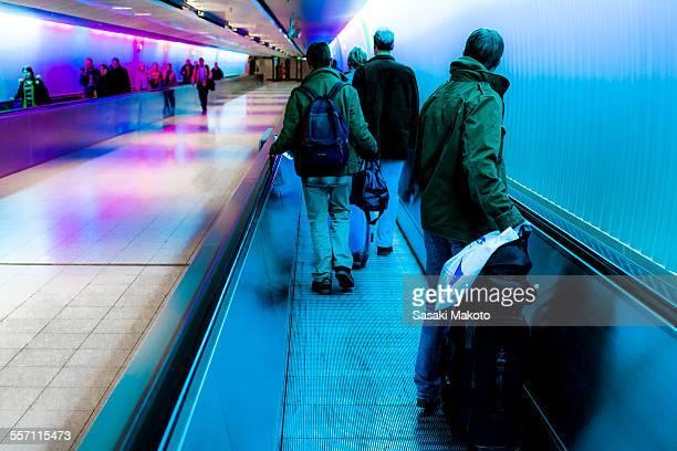underground passageway at airport