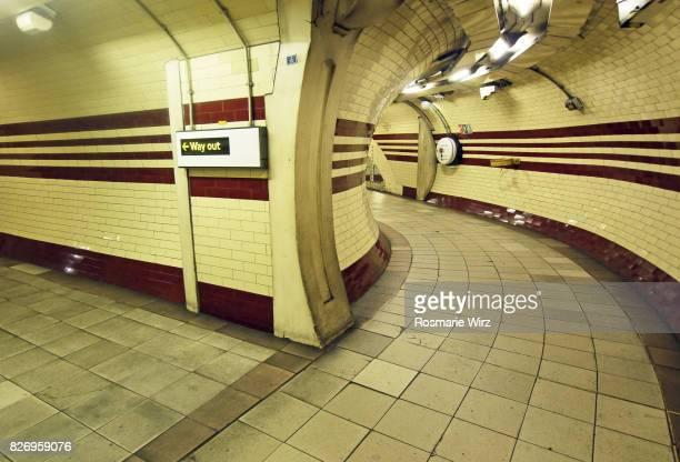 Underground passageway at Hampstead tube station