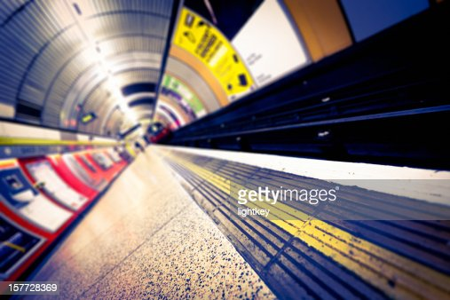 Underground station in London.
