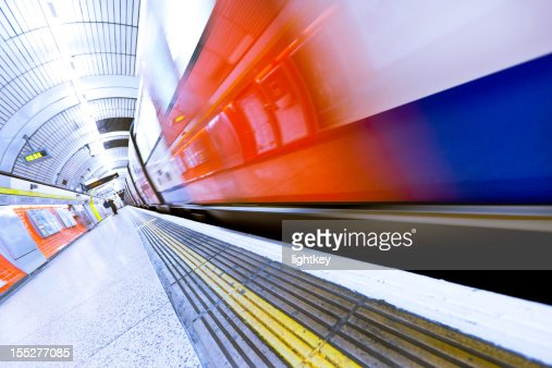 Underground train in London.