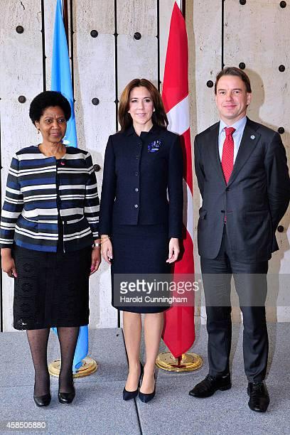 UnderSecretaryGeneral and Executive Director of UN Women Phumzile MlamboNgcuka Crown Princess Mary of Denmark and UnderSecretaryGeneral and Executive...
