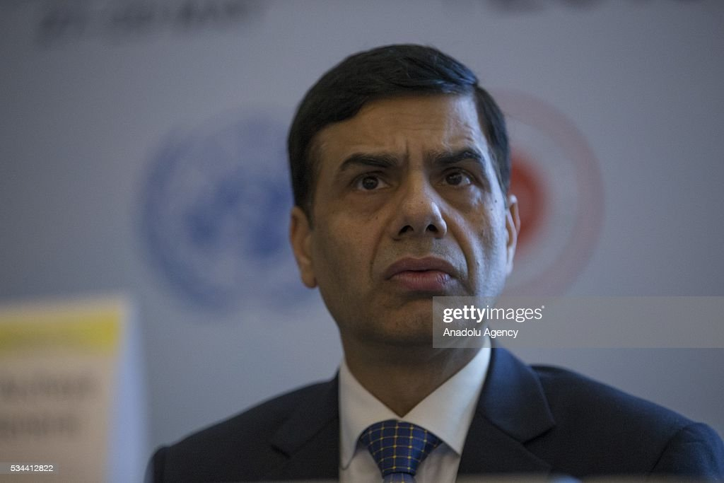 Under-Secretary-General and High Representative for the LDCs Gyan Chandra Acharya attends a conference within Midterm Review of the Istanbul Programme of Action at the Titanic Hotel in Antalya, Turkey on May 26, 2016. The Midterm Review conference for the Istanbul Programme of Action for the Least Developed Countries will take place in Antalya, Turkey from 27-29 May 2016. The conference will undertake a comprehensive review of the implementation of the Istanbul Programme of Action by the least developed countries (LDCs) and their development partners and likewise reaffirm the global commitment to address the special needs of the LDCs.