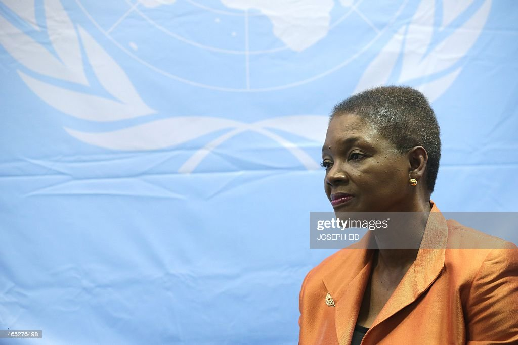UN UnderSecretaryGeneral for Humanitarian Affairs and Emergency Relief Coordinator Valerie Amos speaks during an interview with an AFP journalist in...