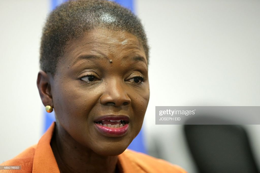 UN Under-Secretary-General for Humanitarian Affairs and Emergency Relief Coordinator <a gi-track='captionPersonalityLinkClicked' href=/galleries/search?phrase=Valerie+Amos&family=editorial&specificpeople=680128 ng-click='$event.stopPropagation()'>Valerie Amos</a> speaks during an interview with an AFP journalist in the Lebanese capital Beirut on March 5, 2015. AFP PHOTO / JOSEPH EID.