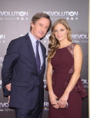 UnderSecretaryGeneral for Public Information Peter LaunskyTieffentha and actress Tracy Spiridakos attend the 'Revolution The Power of Entertainment'...