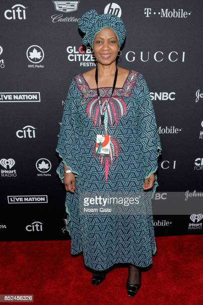 UnderSecretaryGeneral of the UN and Executive Director of UN Women Phumzile MlamboNgcuka poses in the VIP Lounge during the 2017 Global Citizen...