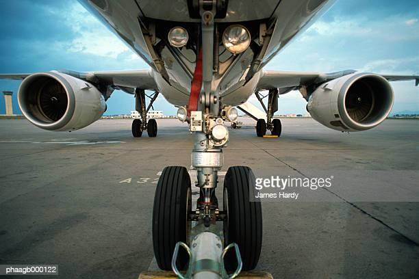 Underside of plane